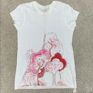 PINK Victoria's Secret NWT ivory shirt.  Size M/L.